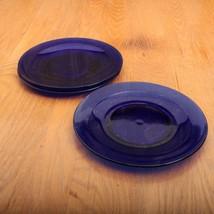 3 Cobalt Blue Salad Plates - $18.69