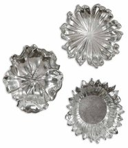 Uttermost Silver Flowers Home Decor, Set of 3 - $217.80