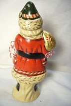 Vaillancourt Candy Cane Santa with Gold Bag personally signed by Judi! image 2