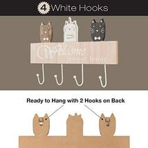 "Wall Mounted Coat Rack with 4 hanging hooks. 16"" Long, Cat Themed, and Ready to  image 4"