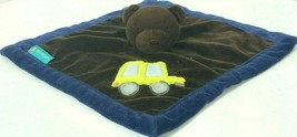 "Tiddliwinks Security Blanket Lovey Brown Bear Truck Car 11"" x 11"" Blue Yellow - $12.60"