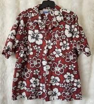 Mens Makapuu C99 Hawaiian Shirt XL 1X Hibiscus Button Down Made in Hawaii - $15.88