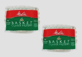 2 ~ 200ct MELITTA Basket Coffee Filters Fits Most 8-12 Cup Makers Brewer... - $13.86