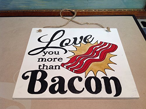 Elf Works Lane Satellite Workshop Custom Sign Love You More Than Bacon