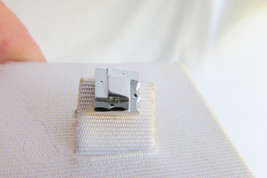Vintage Anson Sterling Silver Classic Square Tie Tie Security Chain Exce... - $13.50