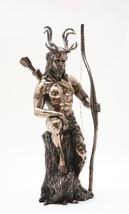 Herne Statue the Hunter Bronze Powder Cold Cast Resin Figurine - $54.99