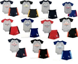 MLB Infant Boy's Fan Favorite Short Set 2-Piece Bodysuit & Shorts Baby Baseball