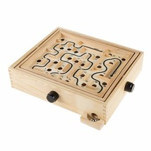 Hey! Play! Labyrinth Wooden Maze Game with Two Steel Marbles, Puzzle Gam... - $19.10