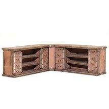 4Ground 28mm Furniture: Light Wood Corner Counter