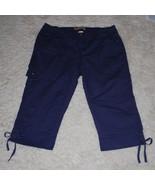 JMS Stretch Classic Capris Capri Pants Womens Plus 22W Purple Drawstring... - $21.00