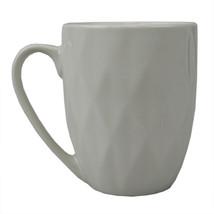 Embossed Circle 11.5 Oz Ceramic Mug, White - $17.32