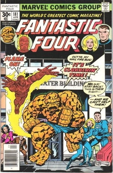 Primary image for Fantastic Four Comic Book #181 Marvel Comics 1977 VERY FINE/NEAR MINT