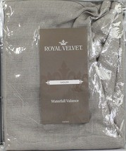 """NEW Royal Velvet Sadler Single Waterfall Valance 42""""X37"""" Porcelain Sand - $14.15"""