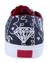 Diamond Supply Co Diamond Cuts Navy Anchors Canvas Sneakers Boat Shoes B14-F103 image 3