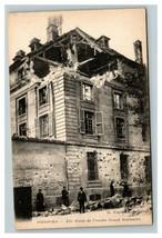 Vintage 1910's Photo Postcard WW1 Bombing Damage Seminary Soissons France - $17.84