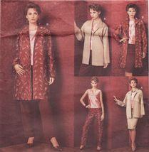Vogue Misses Wardrobe Loose Fit Jacket Top Skirt Pants Sew Pattern 14-18 - $13.99