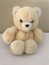 """Vintage Eden Teddy Bear 7"""" Yellow Made In Korea - $29.70"""