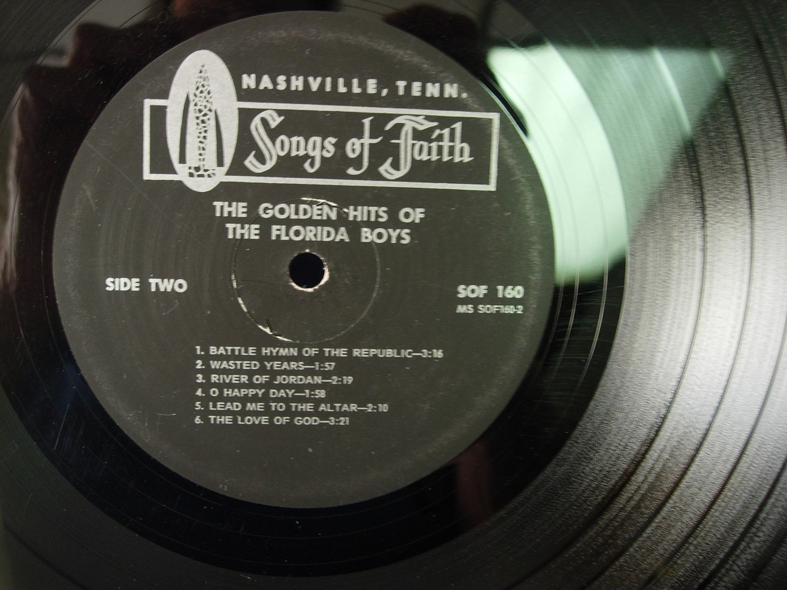 The Golden Hits of the FLORIDA BOYS - Songs of Faith SOF 160