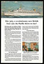 Canberra Ocean Liner Orient Lines July 1961  West Coast Maiden Voyage Pr... - $12.99