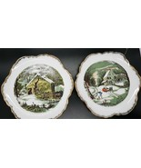 Currier & Ives Collectible Plates The Old Homestead and The Homestead in... - $7.99