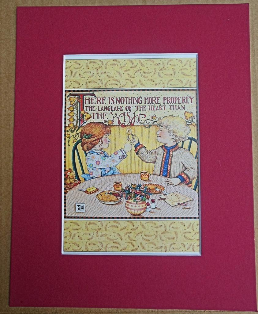 "Mary Engelbreit Print Matted 8 x 10 ""The Wish"" Thanksgiving"