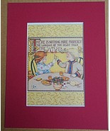 """Mary Engelbreit Print Matted 8 x 10 """"The Wish"""" Thanksgiving - $16.40"""