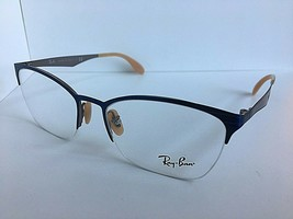 New Ray-Ban  RB 4563 6528 52mm Silver Blue Clubmaster Eyeglasses Frame  - $64.99