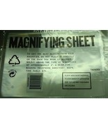 Acrylic Magnifying sheet optical quality enlarge small type 10x7 inch T039 - $2.96