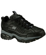 Skechers Black shoes Men's Sport Training Leather Sneaker Comfort Casual... - $49.79