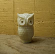 Vintage Avon Owl Perfume Bottle White Milk Glass - $15.00