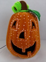 Avon Halloween Glowing Fiber Optic Pumpkin Light Up Jack O Lantern - £43.32 GBP
