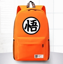 Dragon Ball Goku Symbol Awesome Design School Backpack Orange - $59.90