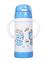 Cute Children Stainless Steel Insulation Cup Baby Sippy Cup Drinking Cup BLUE