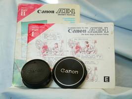 Canon AE-1 Original Makers Instruction Manuals x 2 + Canon 55mm Cap +Rea... - $15.00