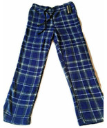 Men's Blue Plaid Soft Fleece Lounge Pants  - Size Large - $12.00