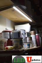 2FT UNDER CABINET LED LIGHT CLOSET COUNTER WORKSHOP + UL AC POWER SUPPLY... - $34.64