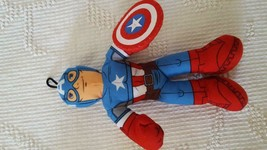 """10"""" Plush Marvel Captain America Toy Doll, Polyester, No Tags, No Defects, - $4.94"""