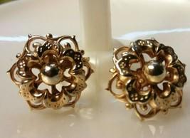 "Vintage Jewelry: 3/4"" Gold Tone Screwback Marino Earrings 04-18-2020 - $8.90"