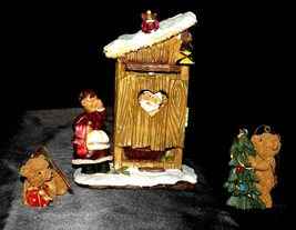 Santa and Friends taking a bath Figurine AA20-2244 Vintage Collectible