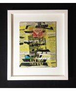 "Mixed Media Collage: Hibachi 8"" x 10"" (Framed to 13"" x 15"") - $100.00"