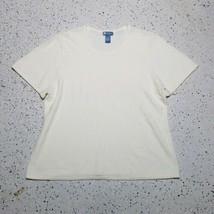 Koret Women's Sweater Shirt ~ Sz 2X ~ Off White ~ Short Sleeve  - $24.74