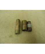Standard Lot of 3 Pipe Couplers Various Sizes Threaded Metal - $7.13