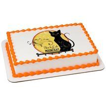 Black Cat Edible Cake Topper Image - $9.99+