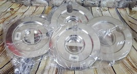 Lot of 4 Notched Stainless Steel Lids 4 Qt. Browne Halco VIC0612 - $11.87