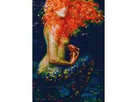 Set cross stitch company RTO.Ryzhaya mermaid M596. Size 25,5 / 36 cm - $27.00