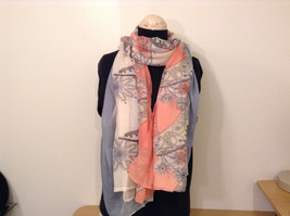 MAD fashion New scarf  Pastels Floral and High Heel Shoe Pattern choice of color image 2