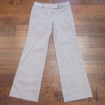 Ann Taylor LOFT Original Brown Herringbone Print Dress Suit Pants Sz 4 S - $11.63