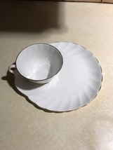 TUSCAN / ROYAL TUSCAN 'Dover' Tea Cup & Snack / Dessert Plate Gold 2 of ... - $40.00
