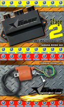 High Performance CDI Box + Ignition Coil for Yamaha Rhino 660 All Years Stage 2 - $229.95
