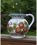 HERITAGE MINT Pitcher Black Forest Fruit Motif Hand-Painted Ceramic Pitc... - $67.00